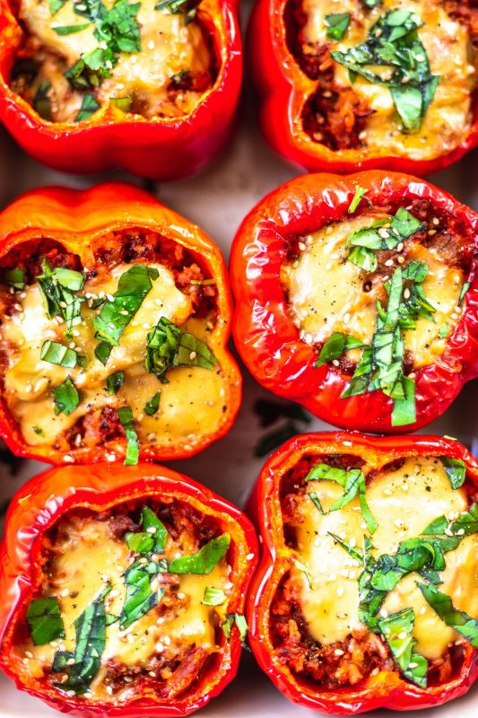 Stuffed Peppers [Vegan]