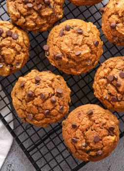 Whole-Wheat Chocolate Chip Pumpkin Muffins