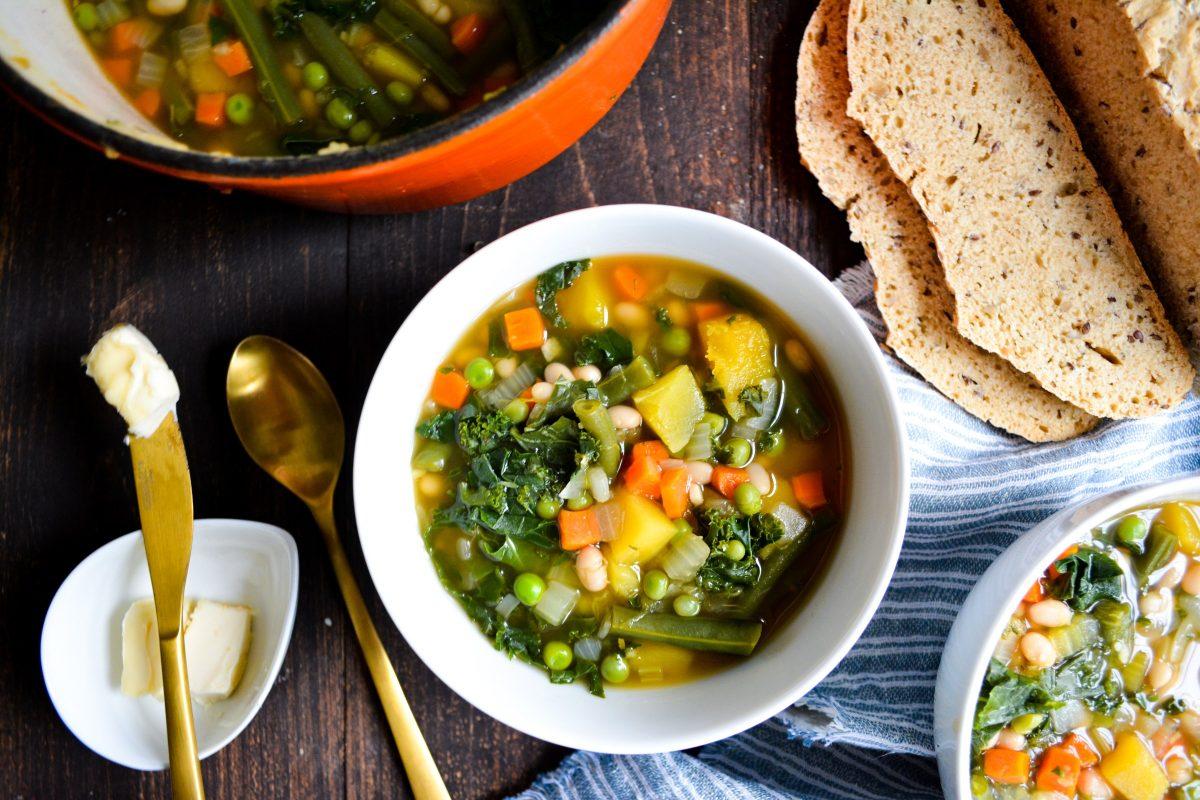 Vegan Acorn Squash and White Bean Stew