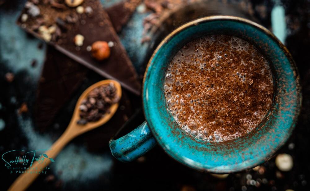 Hazelnut Milk Dark Chocolate Latte [Vegan]