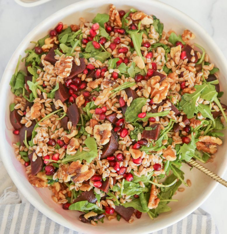 Vegan Beet and Farro Salad