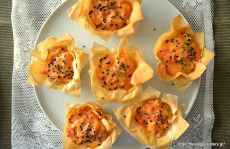 Nests with Red Pepper Cream