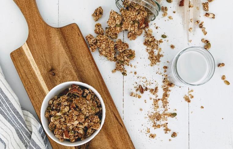 Vegan Peanut Butter Granola Clusters