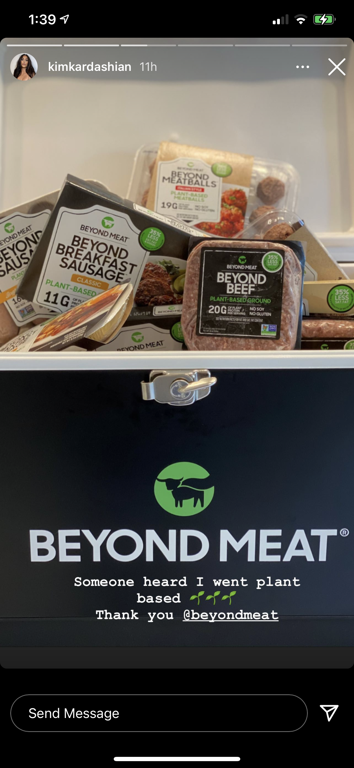 Someone Heard I Went Plant Based Says Kim Kardashian As She Instagrams Beyond Meat Products One Green Planet