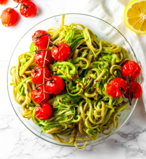 Vegan Green Goddess Zucchini Pasta