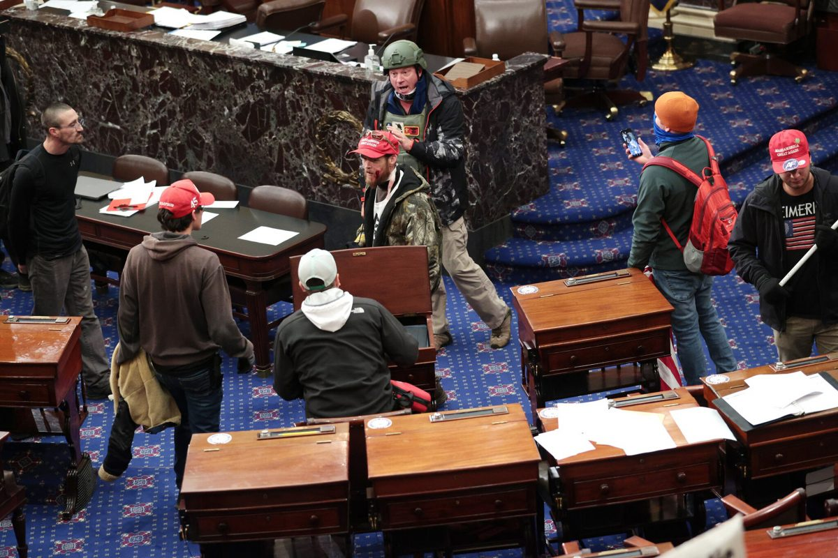 Senate Floor Mob
