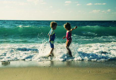 Kids in Ocean