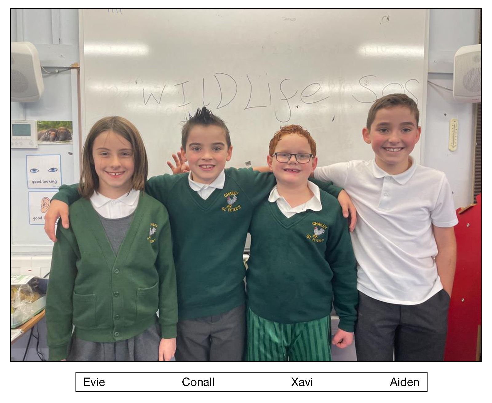 Xavi and his classmates. Image Courtesy of Wildlife SOS