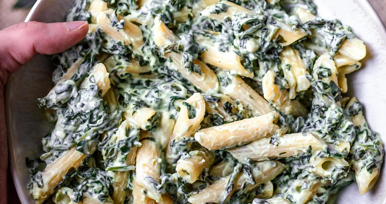 Creamy Spinach Pasta [Vegan, Gluten-Free]