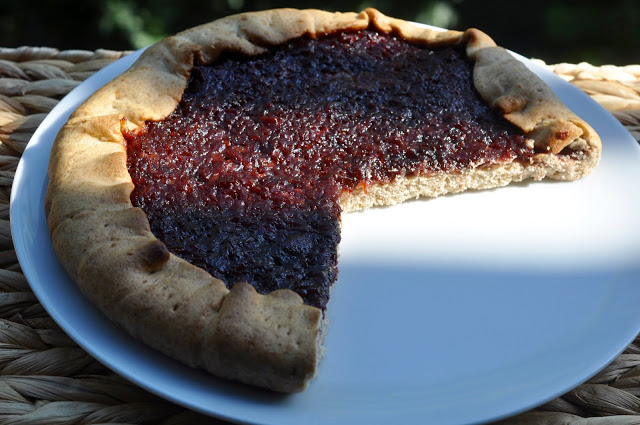 Spicy Tart with Rhubarb and Cherries [Vegan]