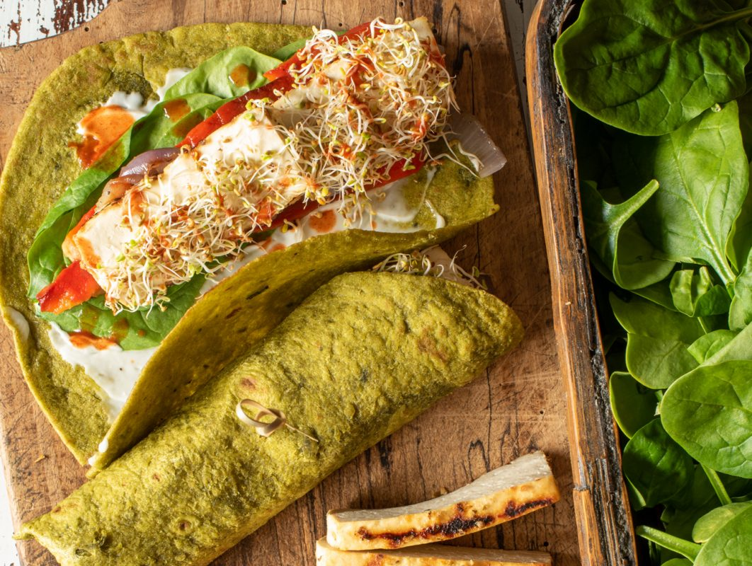 Vegan Grilled Vegetable and Tofu Wrap