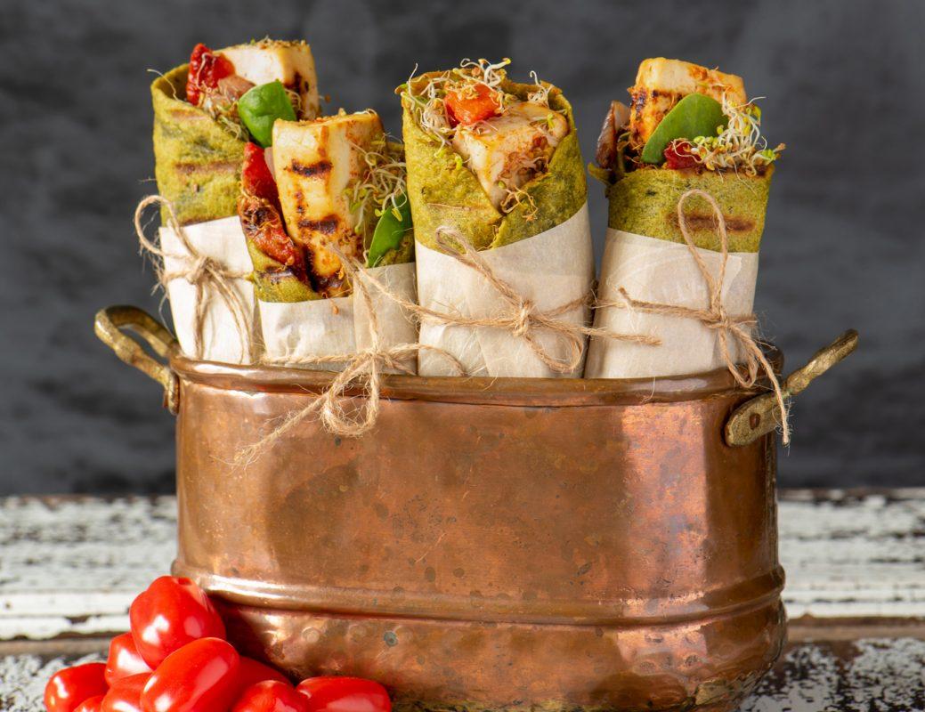 Vegan Grilled Vegetable and Tofu Wrap