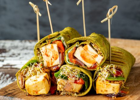 Grilled Vegetable and Tofu Wrap