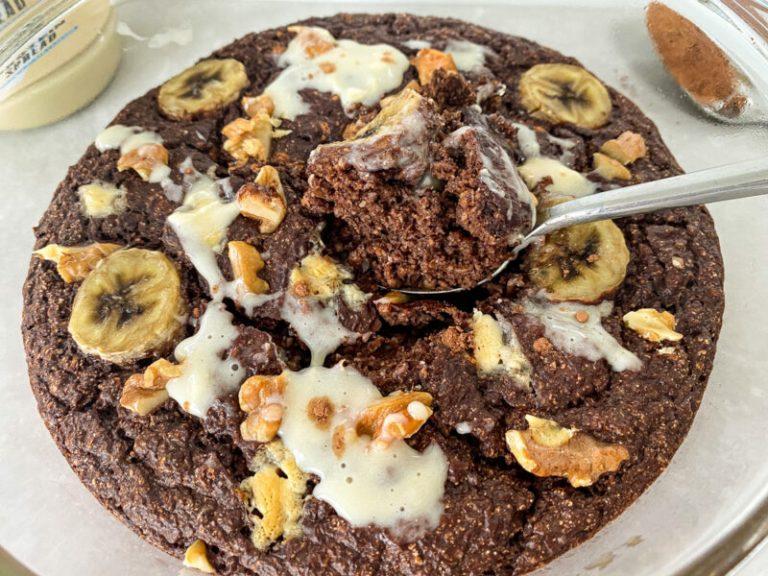 Vegan Double Chocolate Chunky Monkey Baked Oats