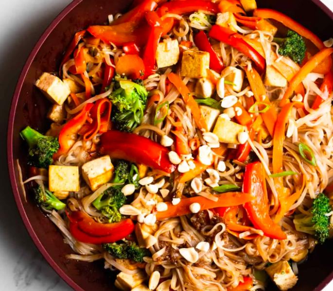 Quick Tofu Pad Thai