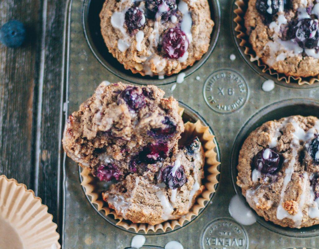 Vegan Lemon Blueberry Buckwheat Muffins