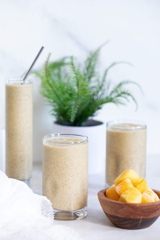 Vegan Mango Chia Seed Smoothie
