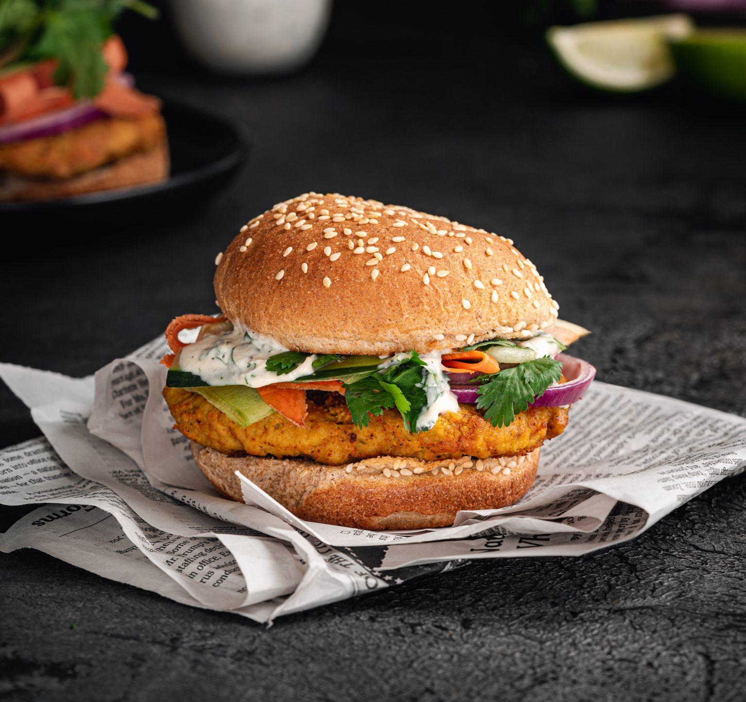 Vegan Tandoori Chicken Sandwich