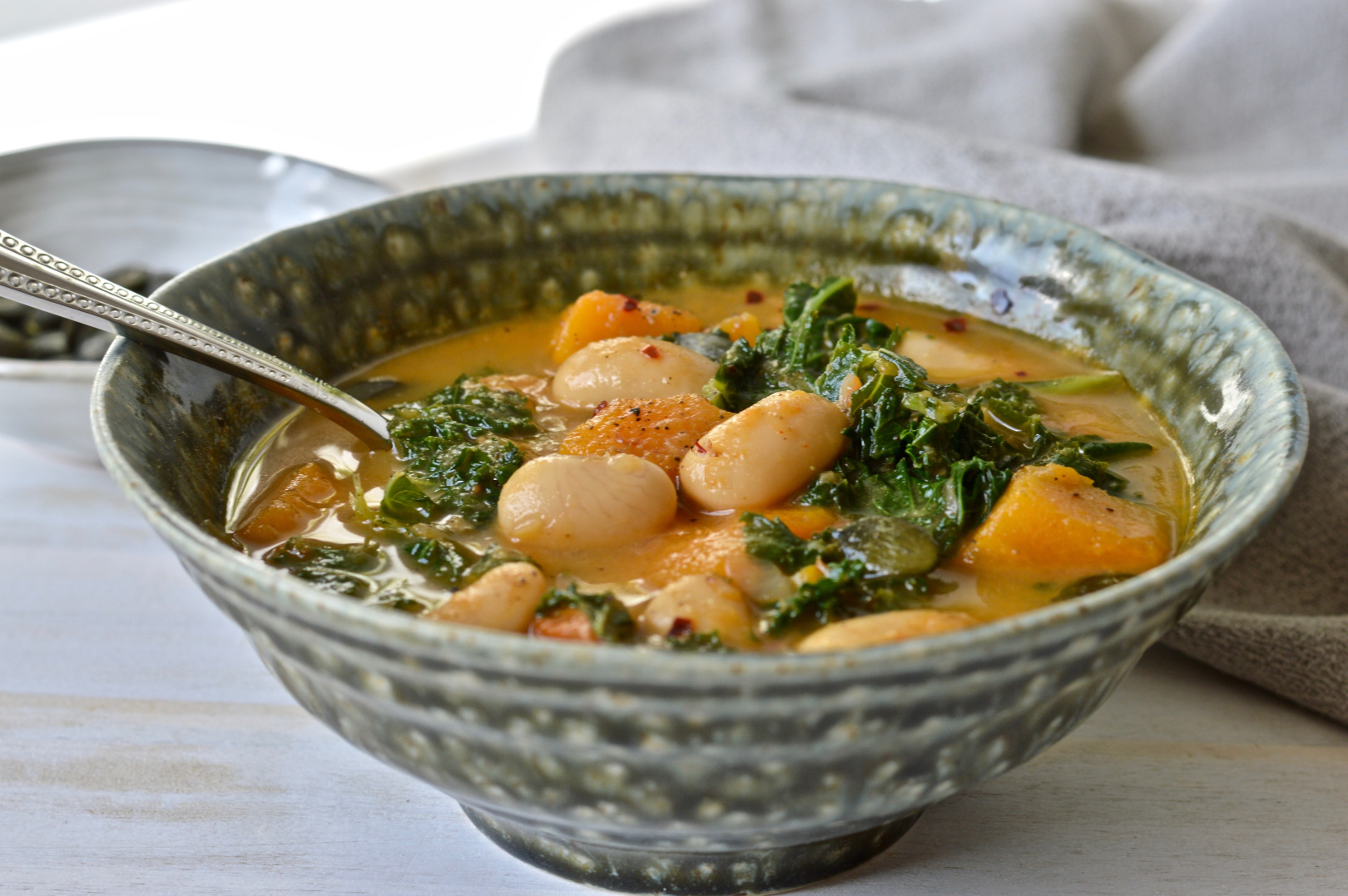 Bean, Kale and Butternut Stew [Vegan]