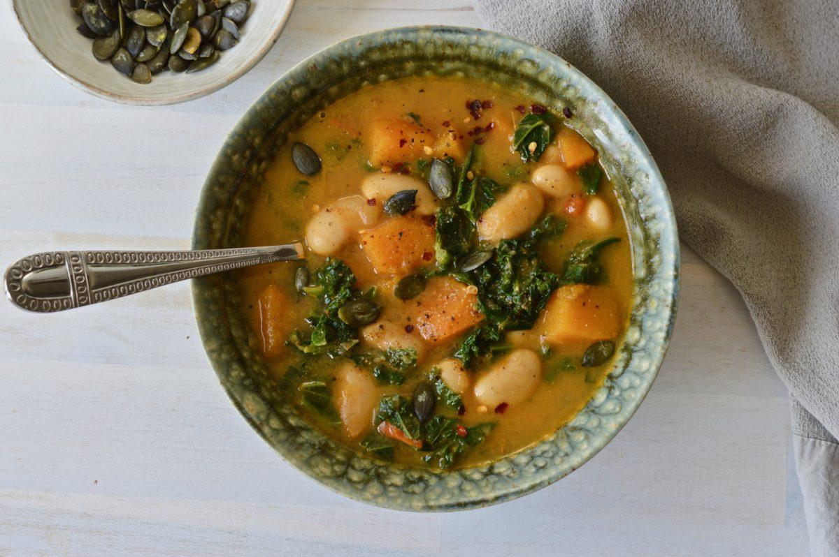 Vegan Bean, Kale and Butternut Stew