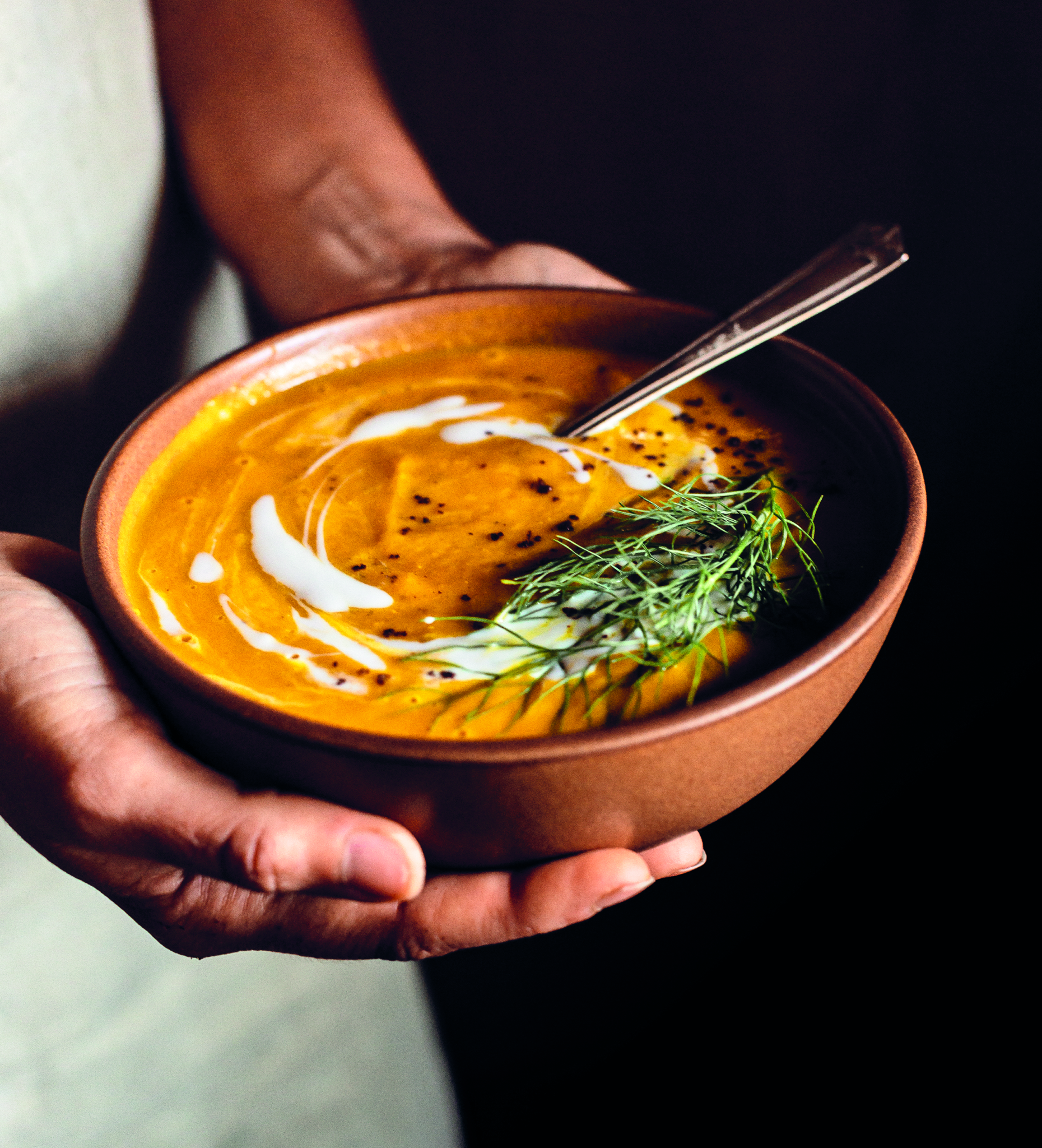 Kabocha Squash, Fennel and Red Lentil Soup