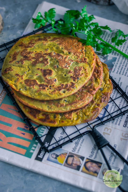 Lentil Pancakes with Leftover Vegan Dal