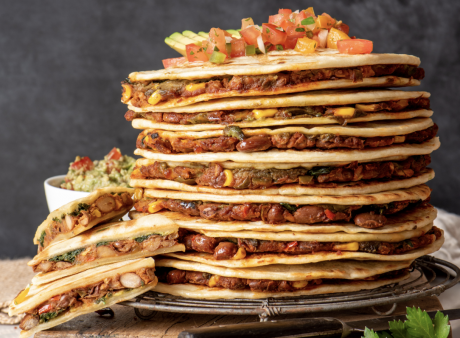 Pinto Bean and Greens Quesadilla