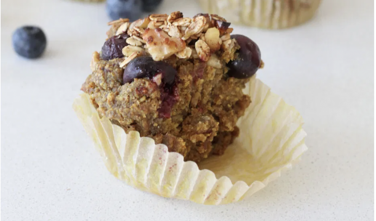 Vegan Walnut Blueberry Muffins