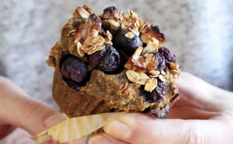 Walnut Blueberry Muffins