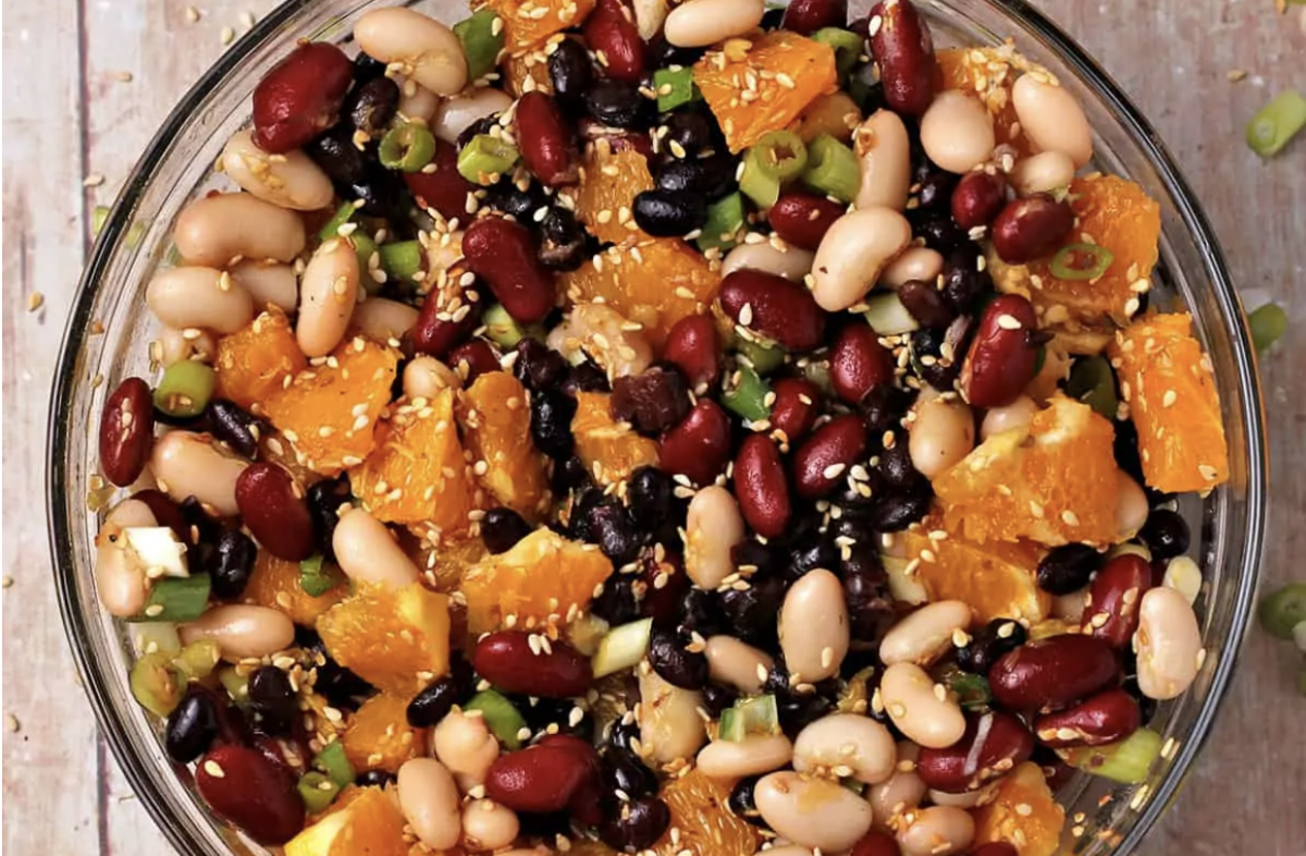Vegan Orange Sesame 3-Bean Salad