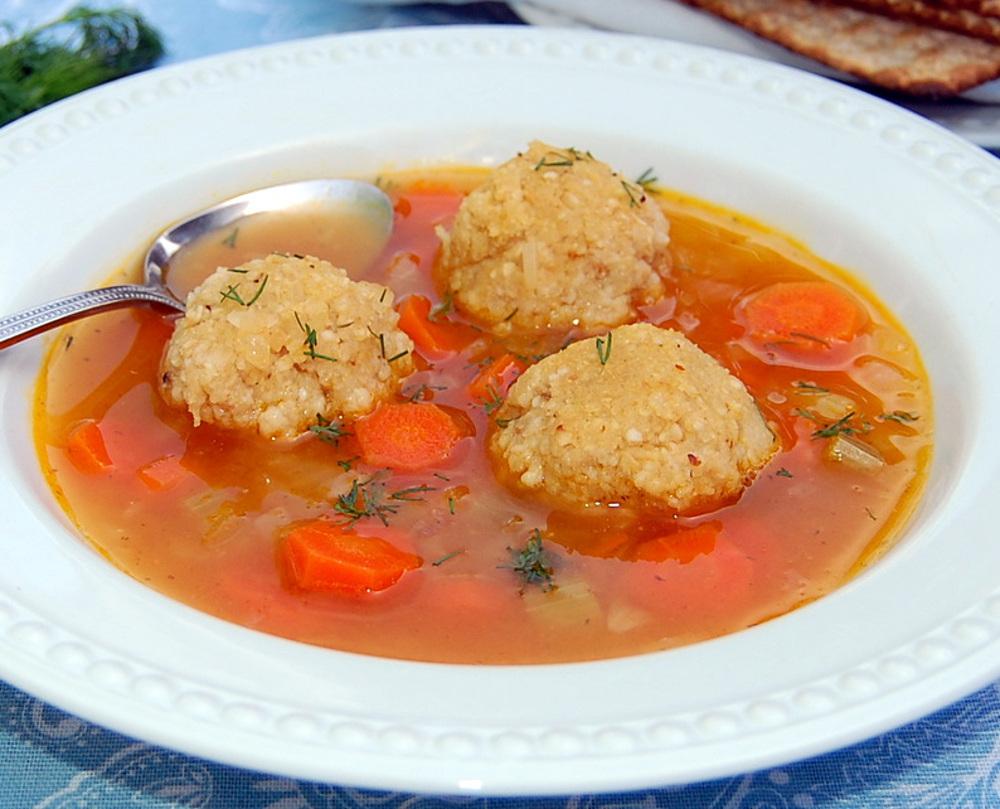 Matzo Ball Vegetable Soup