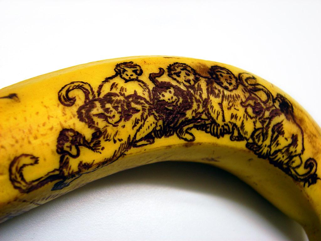 banana with monkeys