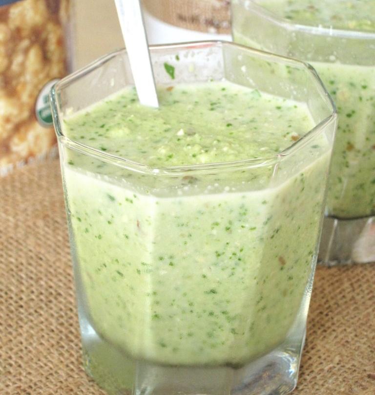 apple tahini green smoothie