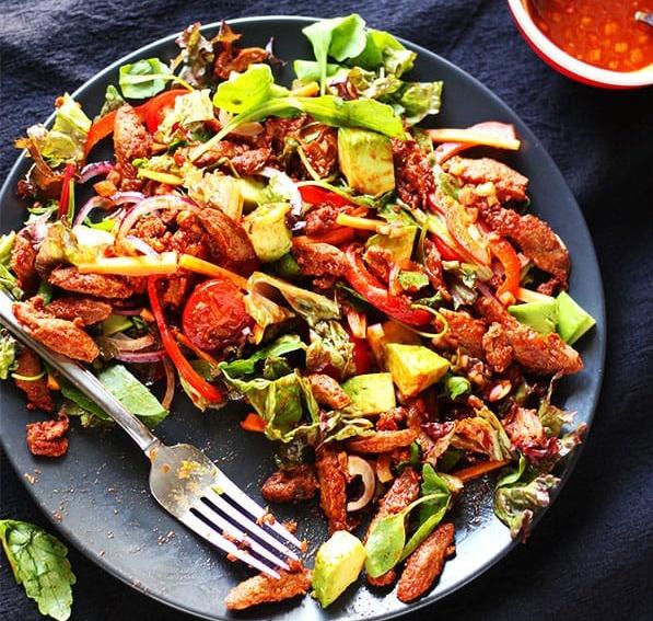 Bbq Soy Curls Salad