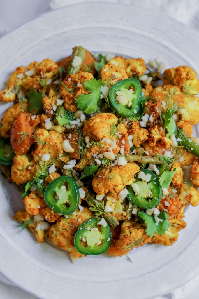 Turmeric Cauliflower and Dijon Butternut Squash [Vegan]