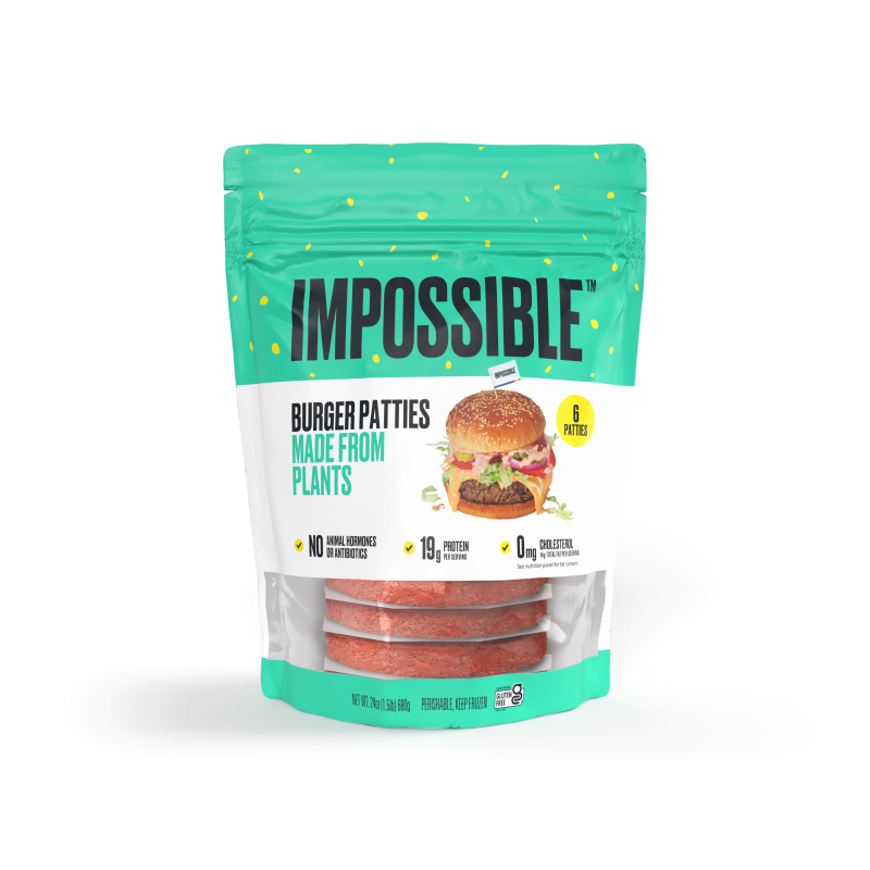 New Impossible Foods Frozen Patties Available in Grocery Stores Nationwide