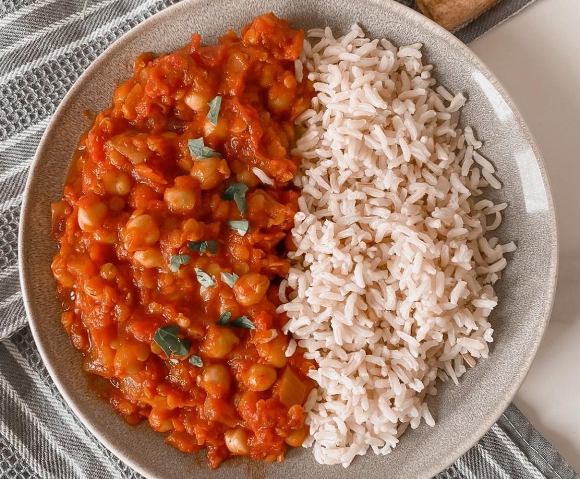 Moroccan Chickpea Stew [Vegan]