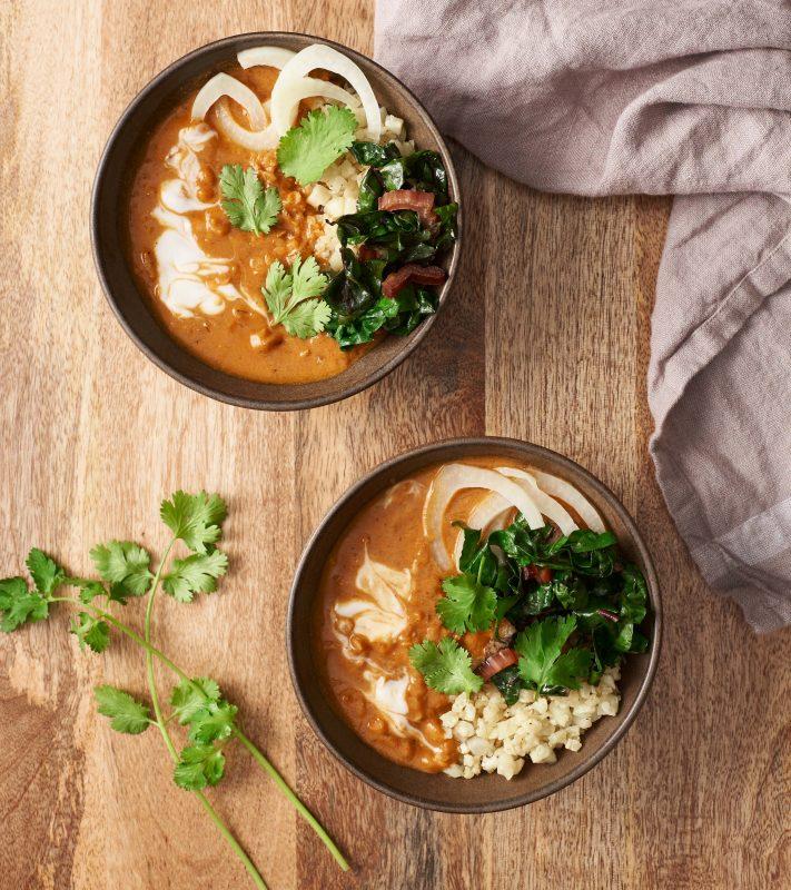 Photo of Spiced Red Lentil Bowls [Vegan]