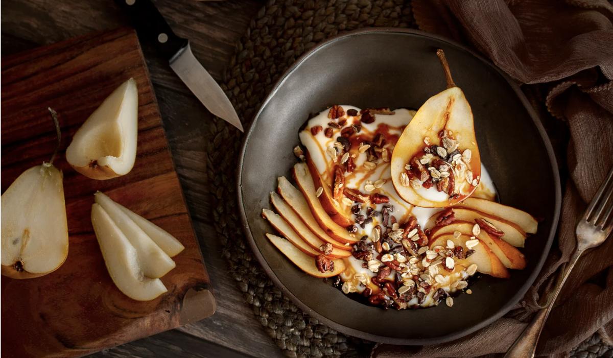 Yogurt & Pear Breakfast Bowl [Vegan, Gluten-Free]