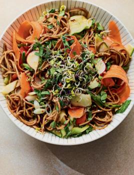 firey noodle salad