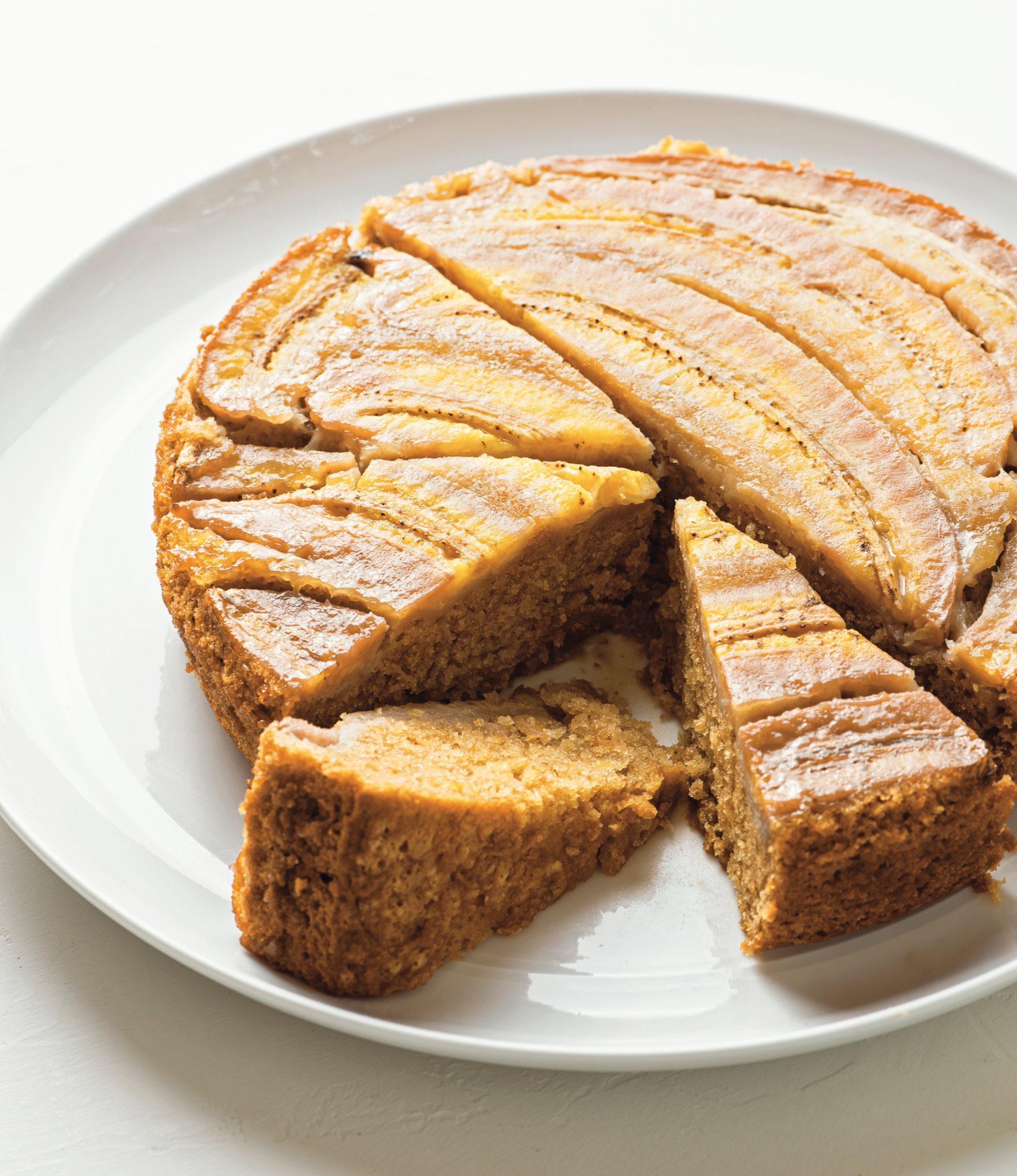 Vegan Banana-Caramel Upside-Down Cake