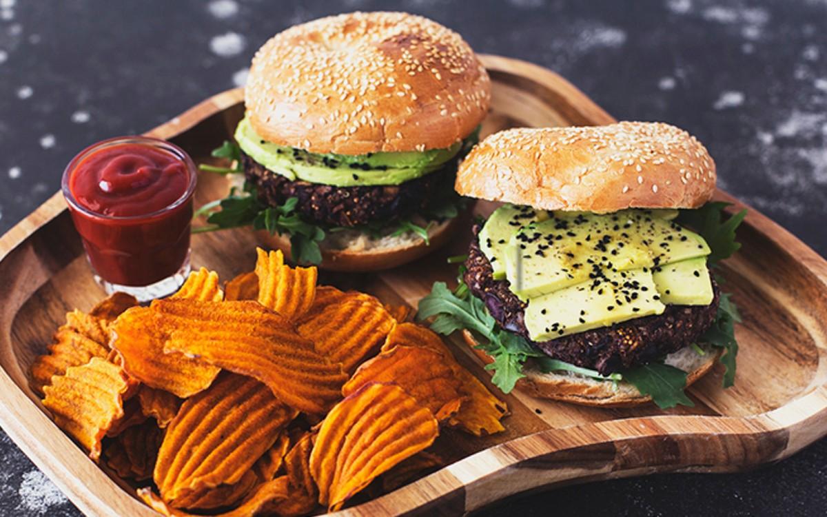 Black Bean, Mushroom, and Kalamata Olive Burger