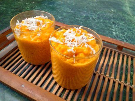 3-Ingredient Mango Pudding