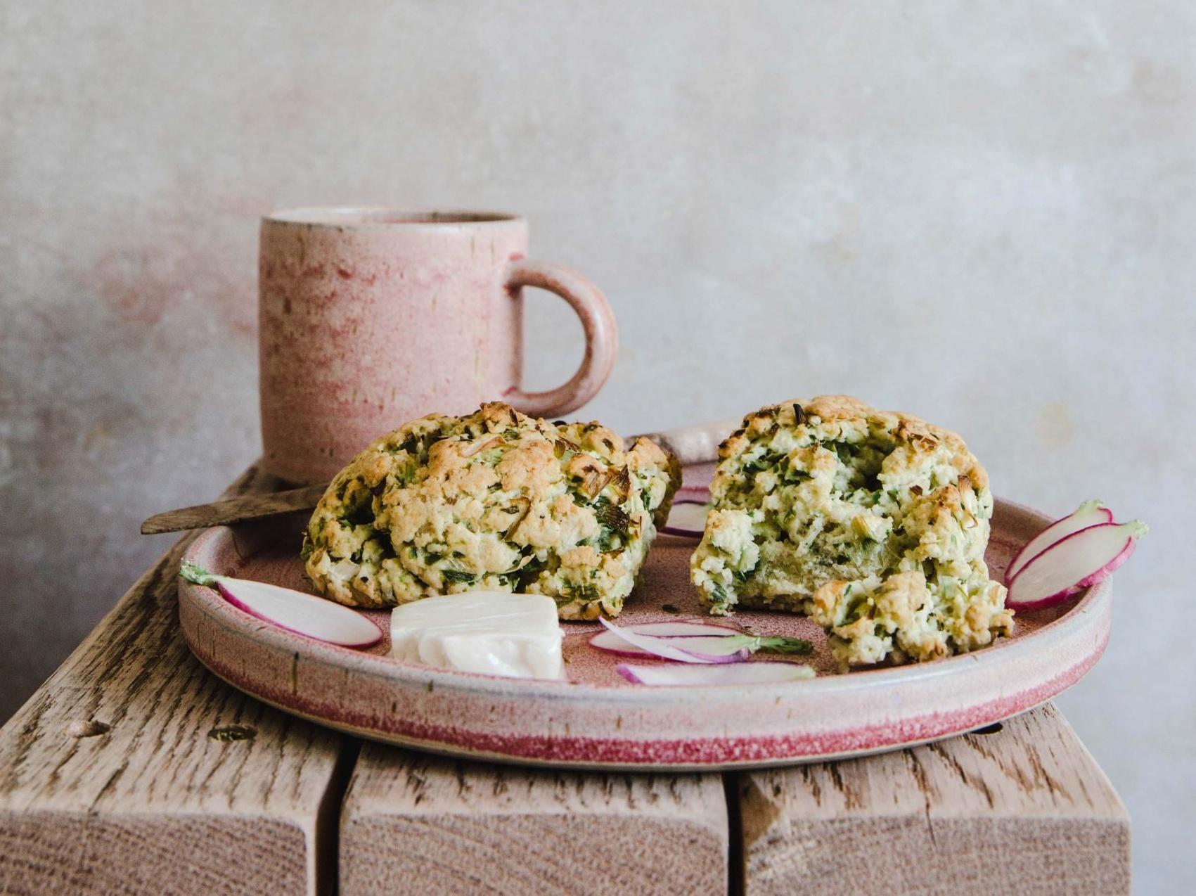 sour cream and onion scones