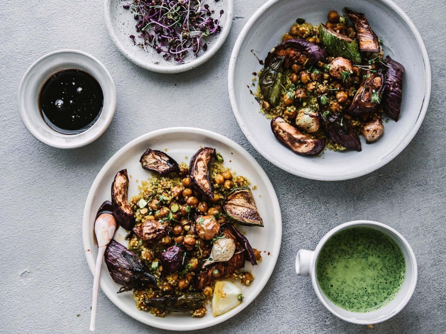 Vegan Moroccan Quinoa Veggie Bowl
