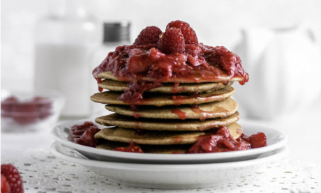Almond Pancakes with Berry Syrup