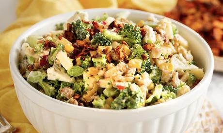 "Apple Broccoli Salad with Creamy ""Honey"" Dressing"