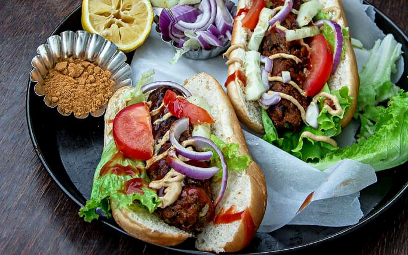 Sweet Potato and Cabbage Dogs