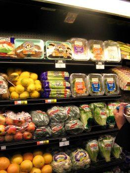 plastic wrapped organic produce