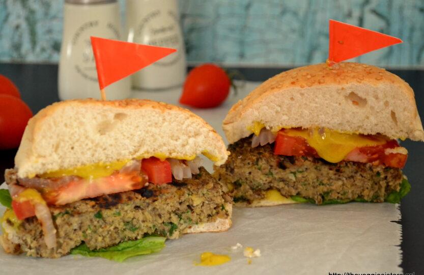 Vegan Chickpea and Mushroom Burger